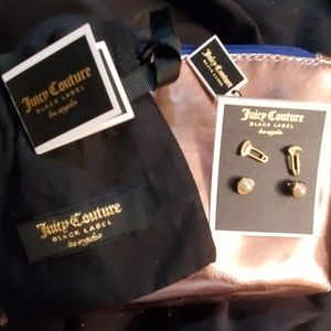 Juicy Couture Black Label charm pin stud set